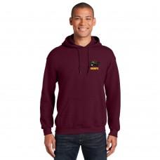 UBRFC Hoodie maroon with Turtles logo