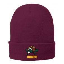 UBRFC Winter hat maroon with 4 color Turtles logo